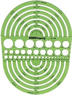 Pickett 1202I Circle Radius Master Template, Circle Range Size 3/64 To 7-1/2 Inches (1202I)