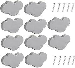 NiceCore Kinderladegrepen met cartoon kunststof meubelknoppen wolk vorm grijs met schroeven voor slaapkamer woonkamer keuk...