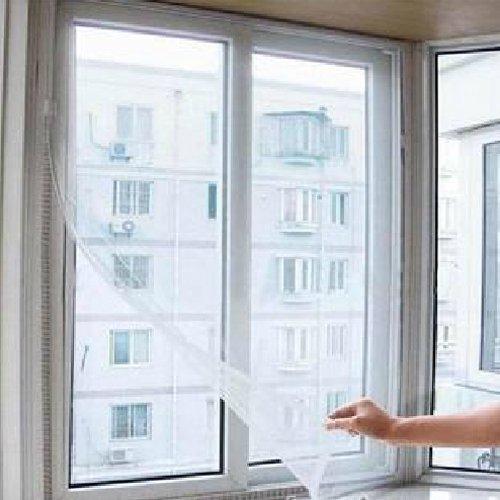 amazing-trading Pratique Collant Porte De Moustique maille d'écran de fenêtre & Bande Velcro