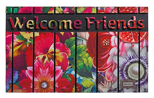 wohnideenshop Felpudo (ECOMASTER 45cm x 75cm Melli Mello Welcome Friends