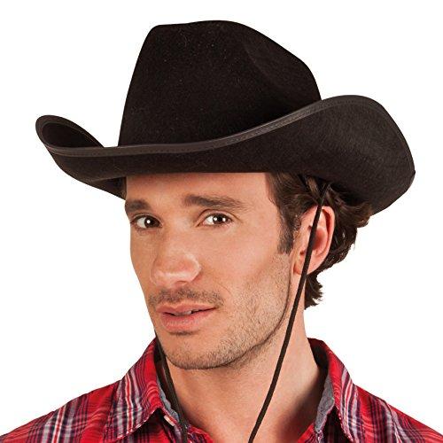 Boland 04071 Chapeau de cowboy pour adulte, taille unique, noir