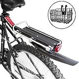 ZHIPENG Portaequipajes Trasero para Bicicleta Hecho De Aleación De Aluminio, Resistente Y Duradero, Puede Adaptarse A La Mayoría De Las Bicicletas,Obsequio Cesta para Bicicleta