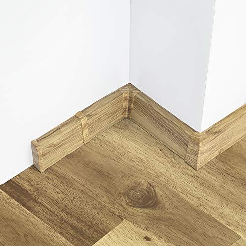 [DQ-PP] Außenecke 55mm PVC Eiche Sutter Laminatleisten Fussleisten aus Kunststoff PVC Laminat Dekore Fußleisten