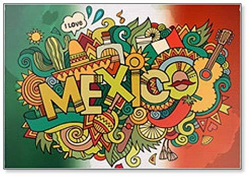 Calamita da frigo con illustrazione a mano del Messico Country