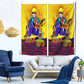 Houtiff Anime & Final & Love and Mystery Tarots by Yoshitaka Amano V The Hier Art Tapestry Handicraft Party Decoration Banner Garland Event Banner and Home Decoration Green