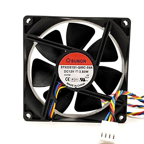 EF92251S1-Q09C-S9A for SUNON 9225 90mm DC 12V 3.83W 4-Wire PWM Cooling Fan