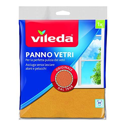 Vileda 119680 Fenstertuch, klassisch und traditionell, reinigt gründlich ohne Schlieren und Fusseln zu hinterlassen