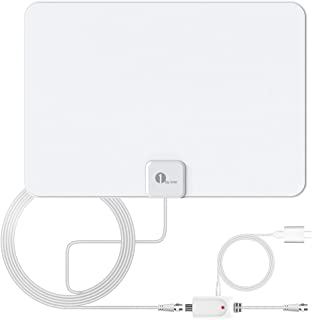 Indoor TV Antenna, Amplified Digital HDTV Antenna - HD Antenna with Amplifier Signal Booster - Support 4K 1080p Fire tv Stick Local Channels and All TV's - Long Coaxial Cable