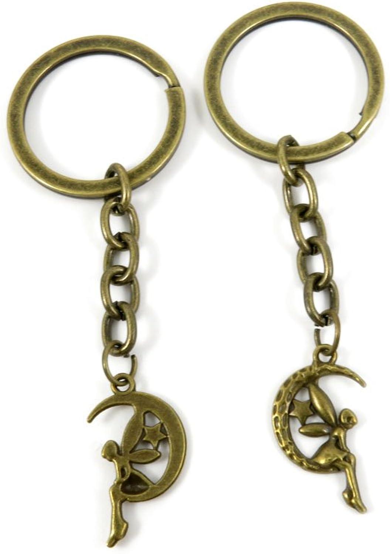 230 Pieces Fashion Jewelry Keyring Keychain Door Car Key Tag Ring Chain Supplier Supply Wholesale Bulk Lots T5SL2 Elf Angel Fairy
