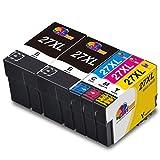 Clorisun 27XL Druckerpatronen Ersatz für Epson 27XL Multipack für Epson Workforce WF-7710DWF WF-7720DTWF WF-3620DWF WF-7715DWF WF-7620DTWF WF-7610DWF WF-7210DTW WF-7110DTW WF-3640DTWF(5er Pack)