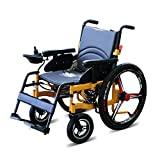 Lightweight Folding Transport Wheelchair,Fold Foldable Power Compact Mobility Aid Wheel Chair, Removable...