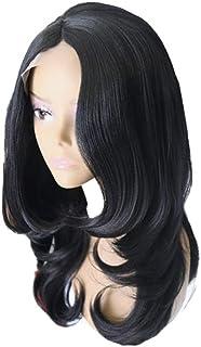 Koloeplf 女性かつら化学繊維長い巻き毛のフロントレースかつらセット