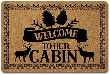 Welcome Door Mats for Home Decor 23 6 x 15 7 inch Funny mats Gift Mats with Anti Slip Rubber product image