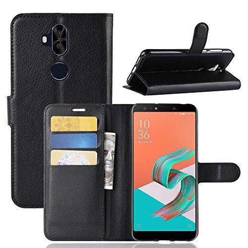 Capa Capinha Carteira Flip Wallet Case 360 Para Asus Zenfone 5 Selfie e Pro Tela 6.0Zc600kl Case De Couro Sintético - Danet - Pronta Entrega (Preto)