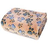 PET SPPTIES Lavabile Coperta per Animale Domestico Calda in Morbido Sleeping Bed Cushion per Cani Gatti PS068 (L, Camel)