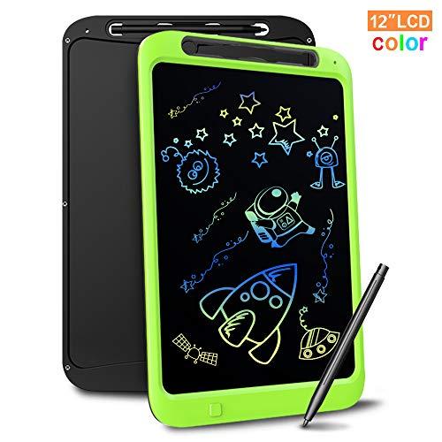Richgv Tavoletta Grafica LCD Scrittura Digitale, Elettronico 12 Pollici Portatile Ewriter Cancellabile Disegno Pad Writing Tablet con Stilo per Bambini Adulti della Casa Scuola Ufficio