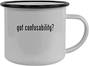 got confusability? - Stainless Steel 12oz Camping Mug, Black
