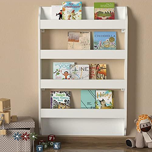 WoodenArt Drama Montessori - Estantería para libros, color blanco