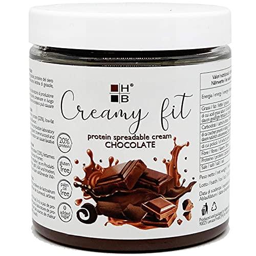 CREAMY FIT HB chocolate   Proteína para untar 250g   Alto contenido en proteínas, bajo en azúcar