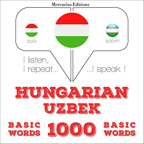 Hungarian – Uzbek. 1000 basic words cover art
