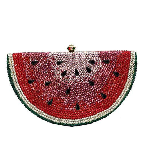 Wassermelone Slice Abend-Clutch für Frauen, Designer Strass Handtaschen Party...
