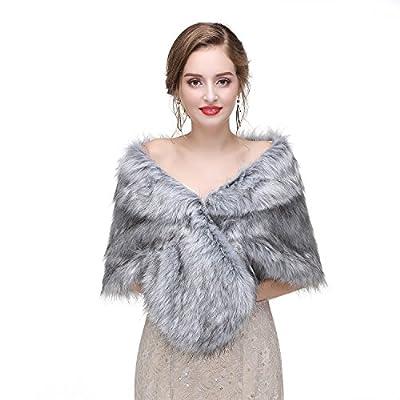Faux Fur Shawl Wedding Fur Wraps and Shawl Bridal Fur Stole Fur Cape for Brides and Bridesmaids