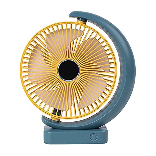YUANYI Ventilador De Mesa Ventilador Silencioso Ventilador De Escritorio Mini USB PortáTil Ventilador De CirculacióN De Aire Adecuado para Viajes Al Aire Libre En La Oficina En Casa,Yellowblue