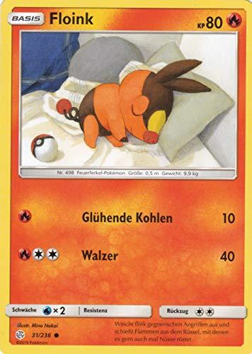 31/236 - Floink - Common - Pokemon - Deutsch - Welten im Wandel - 1. Auflage im Set mit Ultra Pro Toploader und Ultra Pro Schutzhülle (Klarsicht)