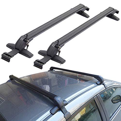 Zobir Car Roof Rack Roof Basket, Aluminum Roof Rack Cross Bars,Universal Adjustable Aluminum Cargo Carrier Rooftop Luggage Crossbars for Car Vehicles SUVs