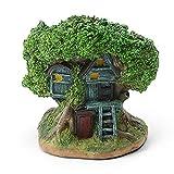SOLOPLAY - Macetero de cultivos suculentas, estatua de jardín de casa de árboles de resina, macetas para exteriores, minidecoración de mesa, oficina, jardín, casa, regalo