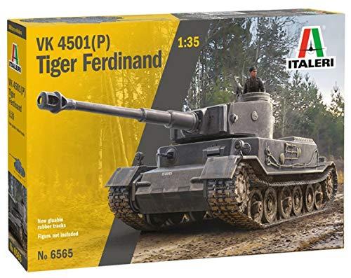 ITALERI 6565S - 1:35 VK 4501 (P) Tiger Ferdinand, Modellbau, Bausatz, Standmodellbau, Basteln, Hobby, Kleben, Plastikbausatz
