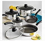 9-Piece Tramontina Simple Cooking Nonstick Cookware Set, Polished by Tramontina USA, Inc.