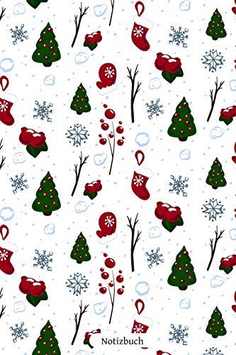 Notizbuch: Schönes Weihnachtsmuster 110 Seiten Journal liniertes Papier | glänzendes Softcover | Notizbuch, Schreibheft, Geschenkidee