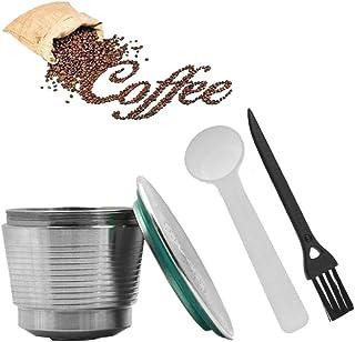 Cozyroom Filtro de café de acero inoxidable rellenable reutilizable Cápsula de relleno de café Nespresso para casa, cocina, oficina, uso al aire libre