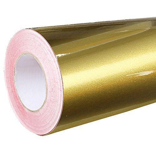 Rapid Teck® Glanz Folie - 091 Gold - Klebefolie - 5m x 63cm - Plotterfolie- Folie selbstklebend - auch als Moebelfolie - Klebefolie