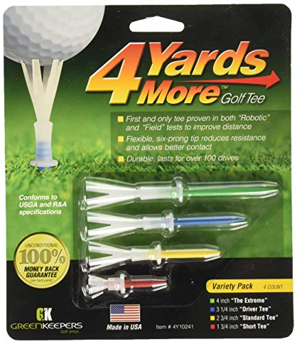 4 Yards More Golf Tee - Variety Pack (4 Tees)