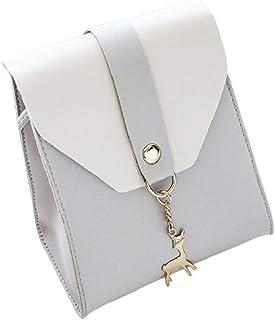 cb815a83db Rovinci Mode Frauen Mini Leder(PU) Handy Umhängetasche Damen Farbblock Bote  Vintage Kleine Handtasche