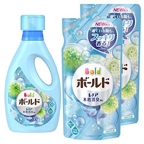 【まとめ買い】ボールド 液体 柔軟剤入り 洗濯洗剤 フレッシュピュアクリーン 本体 850g+詰め替え 715g×2個