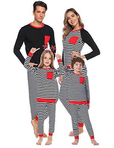 Aibrou Conjunto Familiar de Pijamas de Navidad Camiseta de