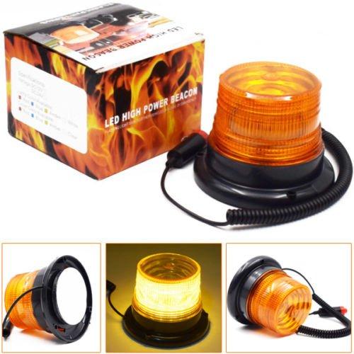 12 V Autos magnétique 10 LED d'urgence Beacon Flash stroboscopique avertissement lumière Ambre 40 W
