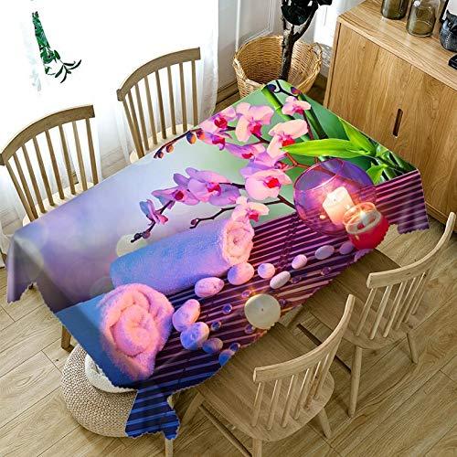 XXDD Mantel 3D Personalizado Blanco Magnolia Flor patrón Mantel a Prueba de Polvo Mantel Boda Vacaciones Mantel A5 140x200cm