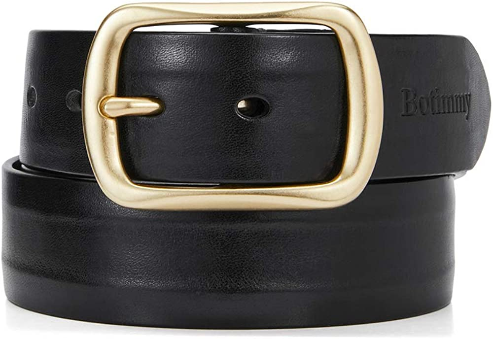 Brass Limited Special Price Our shop OFFers the best service Buckle Leather Belt for Men Grain Solid Mens Full Ca Piece