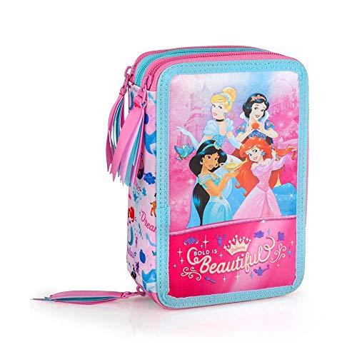 INACIO Astuccio Scuola Principesse Disney Cenerentola Jasmine Biancaneve Ariel...
