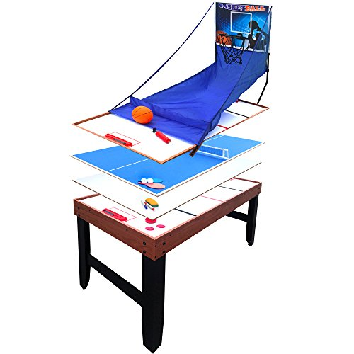 Hathaway Accelerator 4-in-1 Multi-Game Table with Basketball, Air Hockey, Table Tennis and Dry Erase Board for Kids and Families