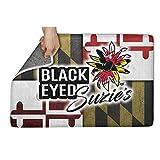YYUTR Indoor Outdoor Entrance Doormat Maryland Black Eyed Suzies Heavy Duty Door Mat Welcome Easy Remain Dirt No-Slip Backing Rugs Dirt Debris Mud Trapper 16x24(IN)