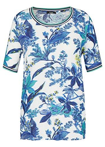 Frapp Damen Extravagante Bluse mit Blumen-Print