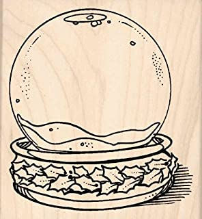 Stamps by Impression Snowglobe Christmas Rubber Stamp