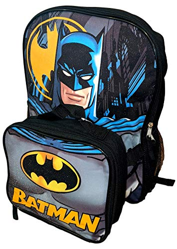 DC Comics Batman 16 Inch Backpack with Insulated Lunch Box