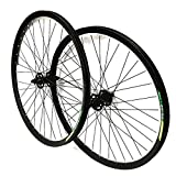 HJJGRASS Bike De Ruedas Road Bike Borde Doble Pared Ruedas De Frente De La Rueda Trasera / - Plata con Freno De Disco De 6 Hoyos, 26 X 1,75 Pulgadas,Rear_Wheels+Disc_Brake