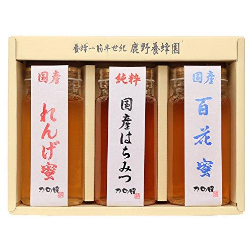 はちみつ 専門店【かの蜂】 国産 蜂蜜 ギフト セット 250g×3本 純粋蜂蜜 3種